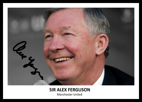 Sir Alex Ferguson Signed