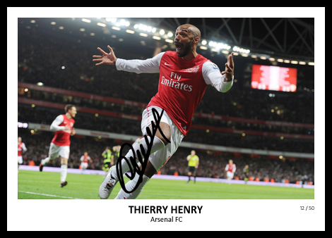 Thierry Henry Signed