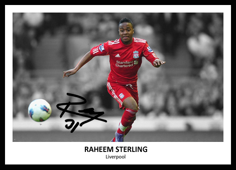 Raheem Sterling Signed